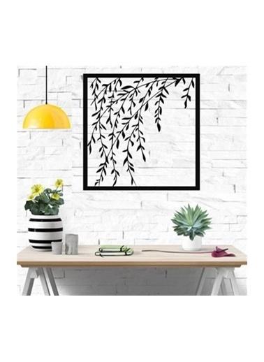 Baupor Ağaç Yaprakları Metal Duvar Dekoru Siyah